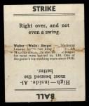 1936 Goudey #1  Wally Berger  Back Thumbnail
