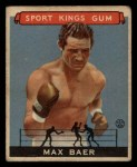 1933 Goudey Sport Kings #44  Max Baer   Front Thumbnail