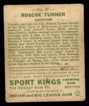 1933 Goudey Sport Kings #27  Col. Roscoe Turner   Back Thumbnail