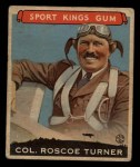 1933 Goudey Sport Kings #27  Col. Roscoe Turner   Front Thumbnail