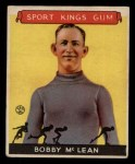 1933 Goudey Sport Kings #12  Bobby McLean   Front Thumbnail