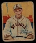 1935 Diamond Stars #13  George Blaeholder   Front Thumbnail
