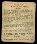 1933 Goudey Sport Kings #46  Ellsworth Vines   Back Thumbnail
