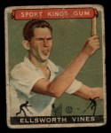 1933 Goudey Sport Kings #46  Ellsworth Vines   Front Thumbnail