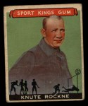 1933 Goudey Sport Kings #35  Knute Rockne   Front Thumbnail