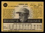 1971 O-Pee-Chee #521  Leron Lee  Back Thumbnail