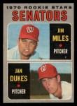 1970 O-Pee-Chee #154   -  Jim Miles / Jan Dukes Senators Rookies Front Thumbnail