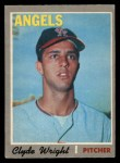 1970 O-Pee-Chee #543  Clyde Wright  Front Thumbnail