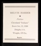 1933 Tattoo Orbit Reprint #30  Mel Harder  Back Thumbnail