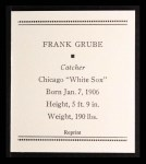 1933 Tattoo Orbit Reprint #24  Frank Grube  Back Thumbnail