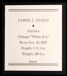 1933 Tattoo Orbit Reprint #16  Jimmy Dykes  Back Thumbnail