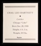 1933 Tattoo Orbit Reprint #31  Gabby Hartnett  Back Thumbnail