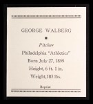 1933 Tattoo Orbit Reprint #57  Rube Walberg  Back Thumbnail