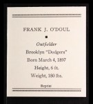 1933 Tattoo Orbit Reprint #48  Lefty O'Doul  Back Thumbnail
