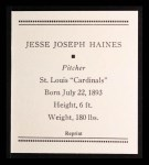 1933 Tattoo Orbit Reprint #28  Jess Haines  Back Thumbnail