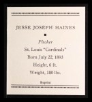 1933 Tattoo Orbit Reprint #28  Jess Haines  Back Thumbnail