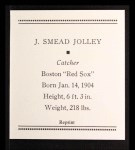 1933 Tattoo Orbit Reprints #36  Smead Jolley  Back Thumbnail