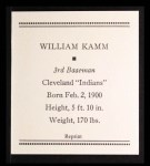 1933 Tattoo Orbit Reprint #38  Willie Kamm  Back Thumbnail
