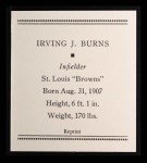 1933 Tattoo Orbit Reprint #7  Irving Burns  Back Thumbnail