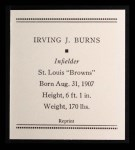 1933 Tattoo Orbit Reprints #7  Irving Burns  Back Thumbnail
