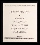 1933 Tattoo Orbit Reprint #14  Kiki Cuyler  Back Thumbnail
