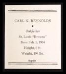 1933 Tattoo Orbit Reprint #50  Carl N. Reynolds  Back Thumbnail