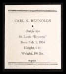 1933 Tattoo Orbit Reprint #50  Carl N. Reynolds  Back Thumbnail