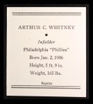 1933 Tattoo Orbit Reprint #60  Arthur Whitney  Back Thumbnail