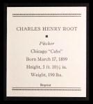 1933 Tattoo Orbit Reprints #51  Charlie Root  Back Thumbnail