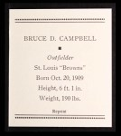 1933 Tattoo Orbit Reprint #9  Bruce Campbell  Back Thumbnail