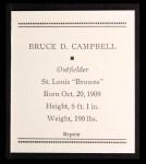 1933 Tattoo Orbit Reprints #9  Bruce Campbell  Back Thumbnail