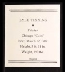 1933 Tattoo Orbit Reprint #55  Lyle Tinning  Back Thumbnail