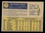 1970 O-Pee-Chee #162  Jerry Johnson  Back Thumbnail