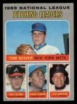 1970 O-Pee-Chee #69   -  Fergie Jenkins / Juan Marichal / Phil Niekro / Tom Seaver NL Pitching Leaders Front Thumbnail