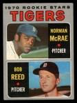 1970 O-Pee-Chee #207   -  Norman McRae / Bob Reed Tigers Rookies Front Thumbnail
