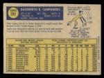 1970 O-Pee-Chee #205  Bert Campaneris  Back Thumbnail