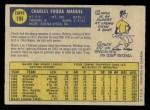1970 O-Pee-Chee #194  Charlie Manuel  Back Thumbnail