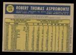 1970 O-Pee-Chee #529  Bob Aspromonte  Back Thumbnail