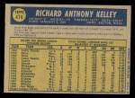 1970 O-Pee-Chee #474  Dick Kelley  Back Thumbnail