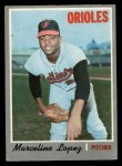 1970 O-Pee-Chee #344  Marcelino Lopez  Front Thumbnail