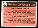 1966 Topps #456   -  Joe Foy / Darrell Brandon Red Sox Rookies Back Thumbnail