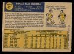 1970 O-Pee-Chee #431  Ron Swoboda  Back Thumbnail