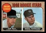 1968 Topps #539   -  Jim Ray / Mike Ferraro Major League Rookies Front Thumbnail