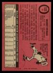 1969 O-Pee-Chee #51  Woody Fryman  Back Thumbnail
