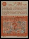 1963 Topps CFL #25  Len Vella  Back Thumbnail