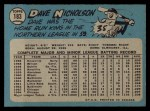 1965 O-Pee-Chee #183  Dave Nicholson  Back Thumbnail