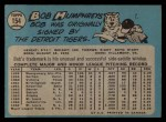 1965 O-Pee-Chee #154  Bob Humphreys  Back Thumbnail