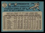 1965 O-Pee-Chee #175  Bob Aspromonte  Back Thumbnail