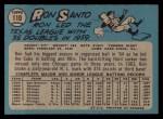 1965 O-Pee-Chee #110  Ron Santo  Back Thumbnail