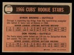 1966 O-Pee-Chee #139   -  Byron Browne / Don Young Cubs Rookies Back Thumbnail